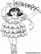 Coloring Dancer Hula Flamenco Ballet Dance Dancers Printable Cartoon Getcolorings Sherriallen sketch template