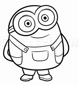 how to draw bob from minions step 7 | SVG Files ...