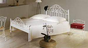 Bett Metall Weiß : spanisches metallbett z b 140x200 cm in braun loria ~ Frokenaadalensverden.com Haus und Dekorationen