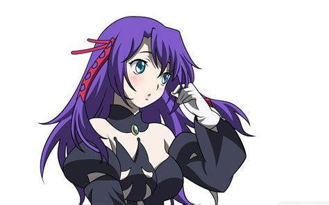 anime girl  purple hair  hd desktop wallpaper