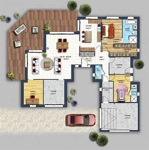 17 meilleures idees a propos de plan maison plain pied sur With delightful maison de 100m2 plan 6 modales de maisons en projet en loire atlantique 44