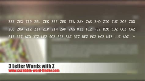three letter words with z 3 letter words with z 32393