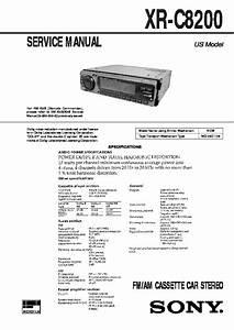 Sony Xr-c8200 Service Manual