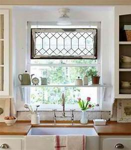 Window treatments for kitchen windows over sink decor for Over the sink kitchen window treatments