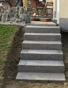 Treppe Bauen Garten : eine treppe aus stahlbeton gartenbau selber gemacht ~ Lizthompson.info Haus und Dekorationen