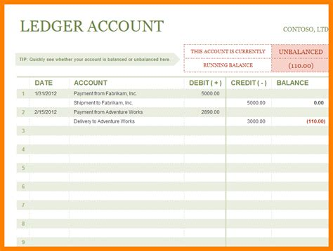 simple ledger sheet template ledger review