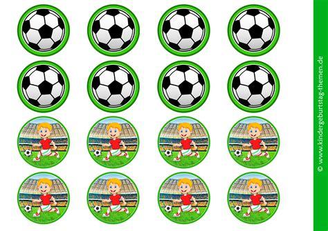 fussball deko vorlagen von cupcake faehnchen