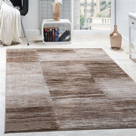 wohnzimmer teppich karo meliert braun beige teppichcenter