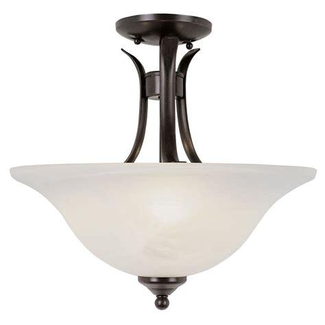 Plc Lighting 1light Oilrubbed Bronze Ceiling Semiflush