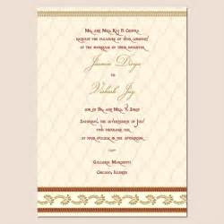 indian wedding invitations indian wedding invitation template shaadi