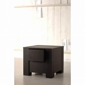 Table De Chevet Wengé : table de chevet wenge design ~ Teatrodelosmanantiales.com Idées de Décoration