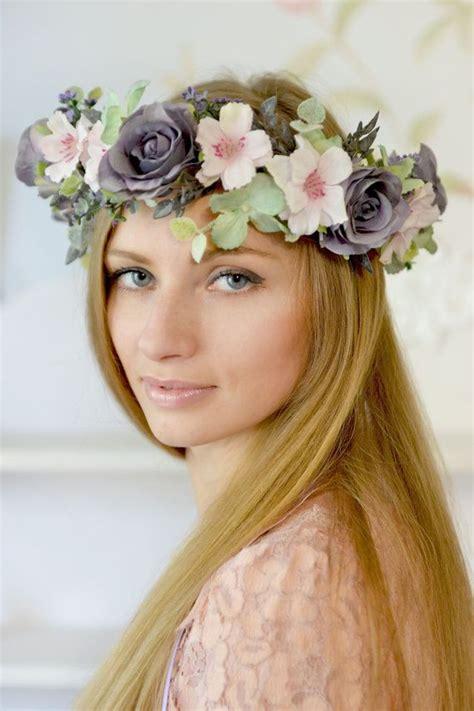 boho flower crown bridal floral crown boho wedding