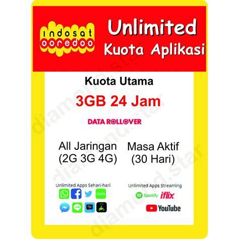 / kuota langsung kami kirim 8. Indosat 3GB Unlimited Aplikasi 30hari | Kuota Indosat Ooredoo Paket Data Internet | Shopee Indonesia