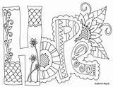 Hippie sketch template