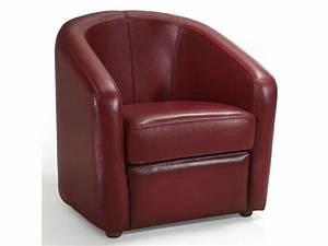 Fauteuil Cuir Rouge : fauteuil cuir novi coloris rouge conforama pickture ~ Teatrodelosmanantiales.com Idées de Décoration