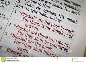 Bible Text With The Blessings Stock Photo - Image: 69160198