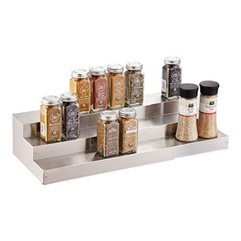 Tier Spice Rack by Expand A Shelf Stainless Steel 3 Tier Spice Rack Step