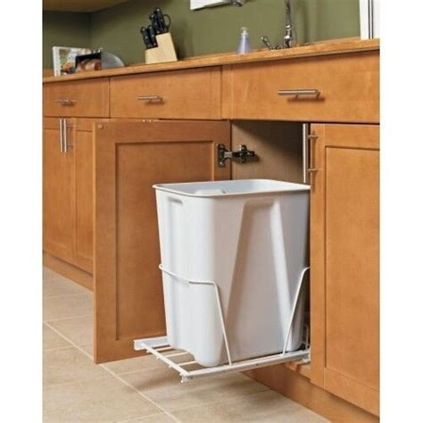 Trash Can Bin Kitchen Garbage Pull Out Plastic Waste