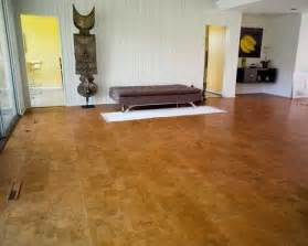 cork flooring cut from large cork board stock is a
