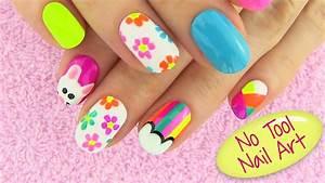 DIY Nail Art Without any Tools! 5 Nail Art Designs - DIY ...