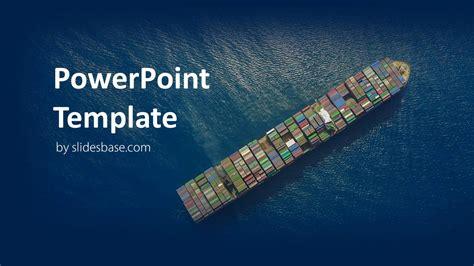 shipping  logistics powerpoint template slidesbase