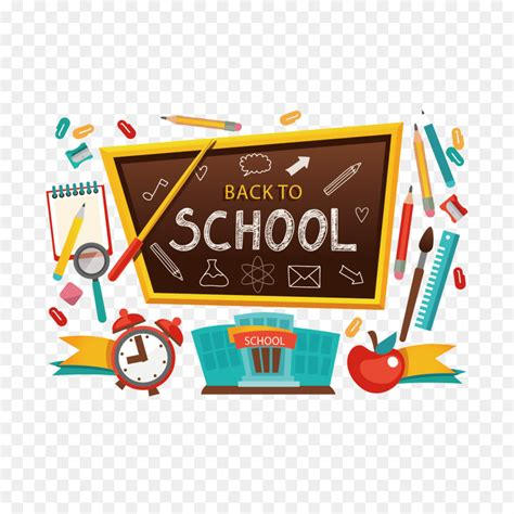 student school clip art vector blackboard  school supplies png