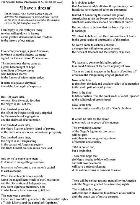martin luther king jr    dream speech lyrics