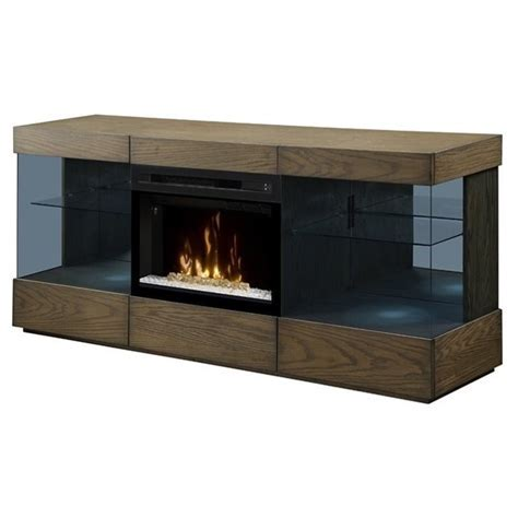 Dimplex Axel Electric Fireplace TV Stand with Acrylic in
