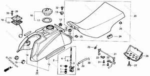 Honda Atv 1985 Oem Parts Diagram For Fuel Tank