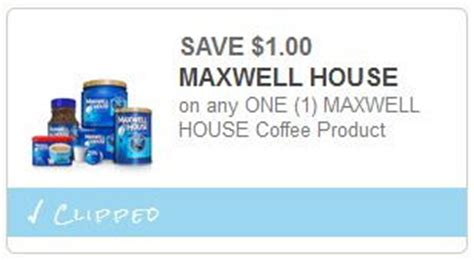 $1.99 Maxwell House coffee at Meijer with Coupon