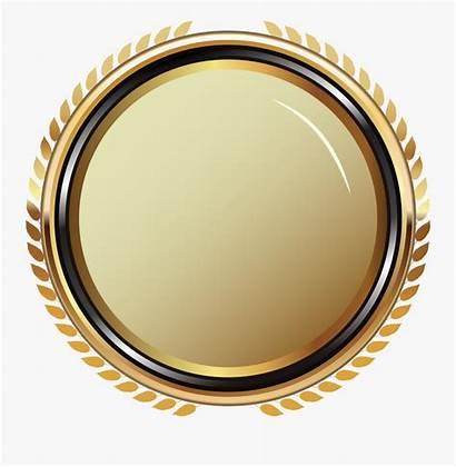 Banner Gold Round Clipartkey