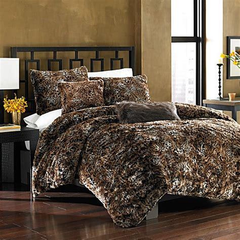 14274 fur bed set cat faux fur duvet cover set bed bath beyond