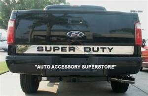 ford superduty chrome tailgate letters spell quotb l i n g With stainless steel super duty tailgate letters