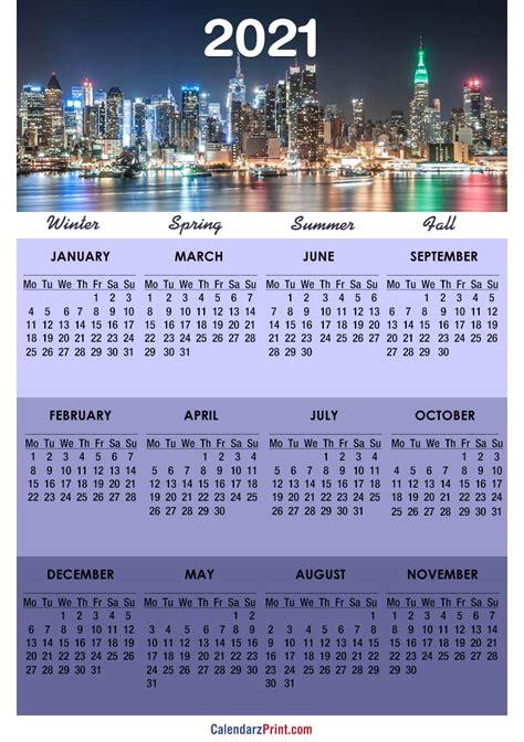 calendar printable   york city calendars
