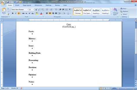 brief template microsoft word brief template e commercewordpress