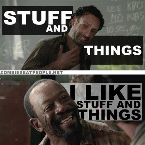 Walking Dead Stuff And Things Meme - rick grimes morgan the walking dead stuff n things