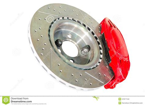 Assembled Caliper Disc And Pads Of Car Brake System Stock
