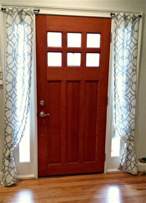 front door side window curtain rods best 25 door window curtains ideas on curtain