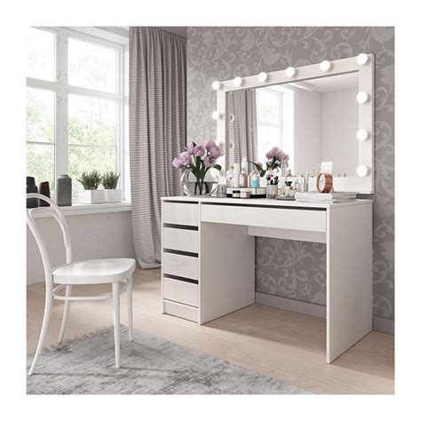bmf ada i dressing table with mirror 120cm wide drawers