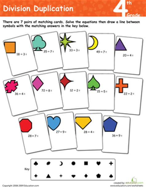 Division Duplication 4th Grade  Worksheet Educationcom