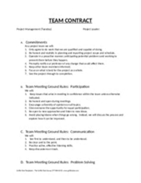 team contract template sle team contract to research teams from d clippinger team coordinator date subject team