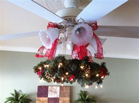 christmas wreath  ceiling fan christmas decor