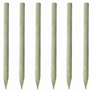 Piquet De Cloture Fer : lot de 6 piquets de cl ture en bois 150 cm achat vente ~ Dailycaller-alerts.com Idées de Décoration