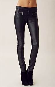 Shakuhachi leather pants in black lyst for Letter pants