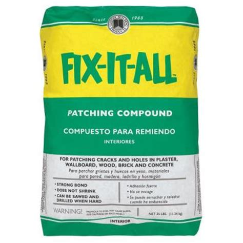 Concrete Floor Patching Compound by Custom Building Products Fix It All 25 Lb Patching