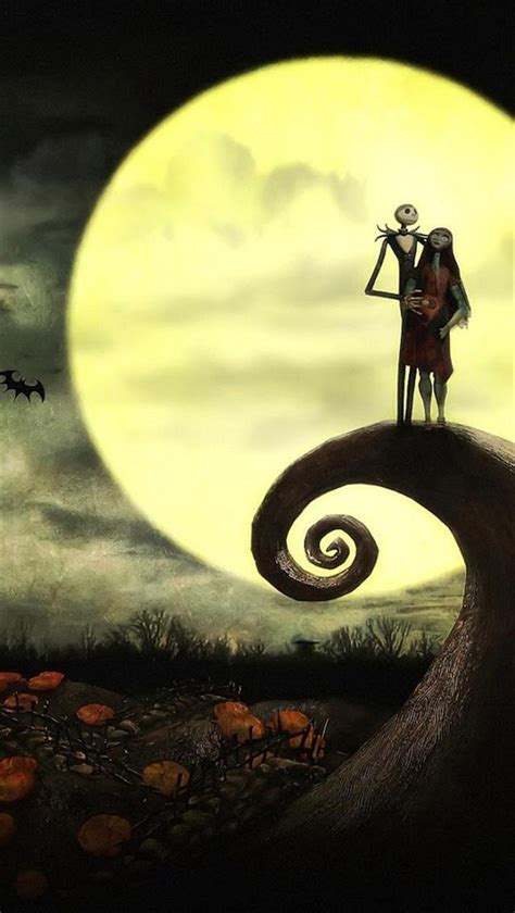 Background And Sally by Animation Background And Sally Skellington