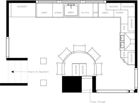 kitchen island floor plans u shaped kitchen with island floor plans