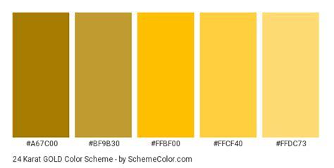color code for gold 24 karat gold color scheme 187 gold 187 schemecolor