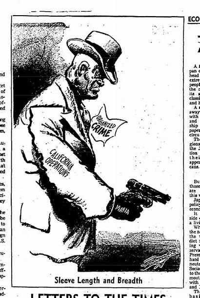 Cartoon 1950s Conrad Paul Editorial Times Crime