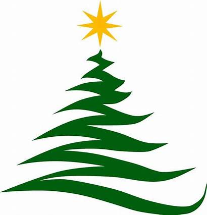 Christmas Tree Modern Happy Merry Holidays Vector